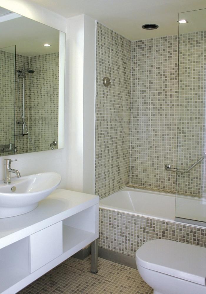 Tile Ideas Grey Plaid White Wash Basin