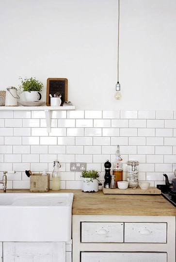 Stylish White Subway Tile