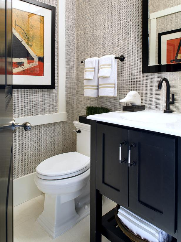 Susan Anthony Black White Bathroom