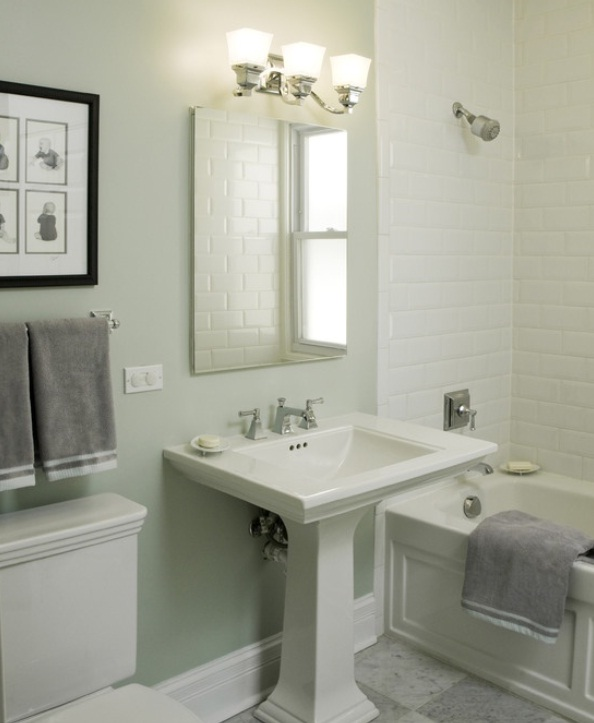 White Bathroom Design Ideas ~ Interesting tile ideas for the small bathroom