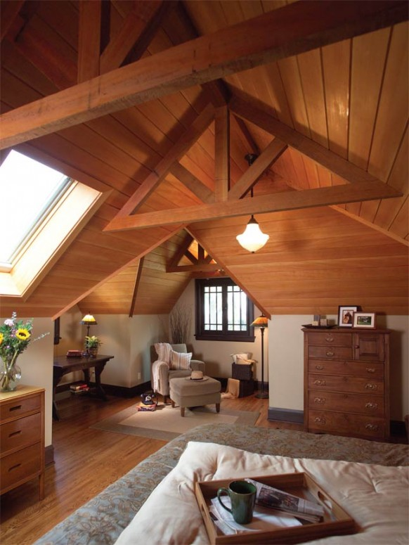 Fabulous Bedroom Large Attic Room