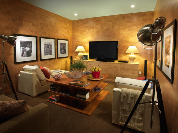 Two Black Spotlights Theater Room