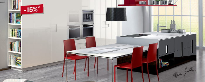 Modern-kitchen-with-an-artistic-Italian-kitchen-work-table -idea
