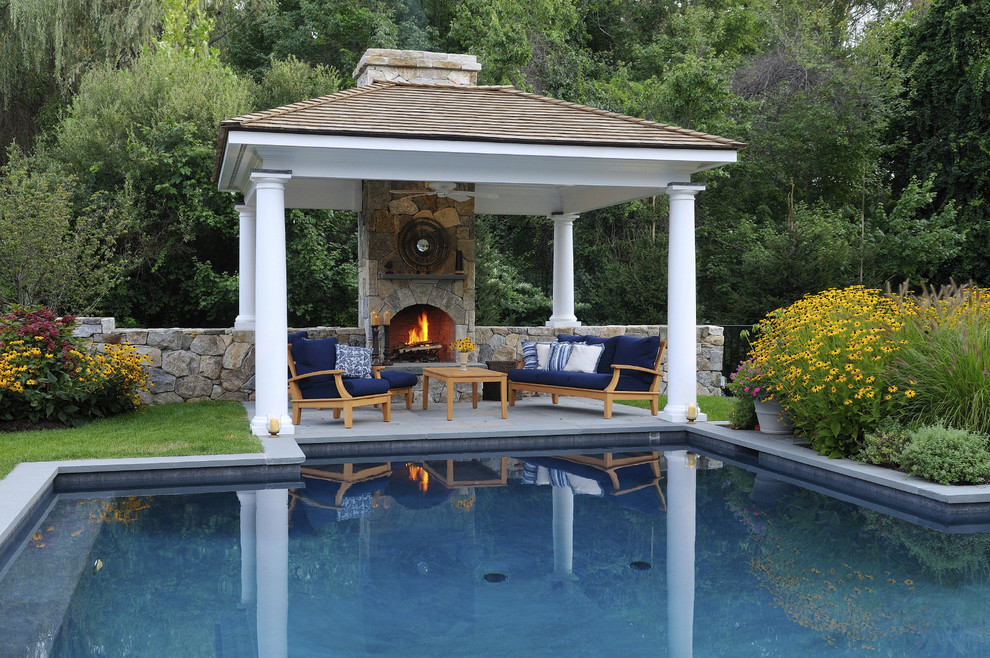 Pool side cabana designs ideas for Pool design with gazebo