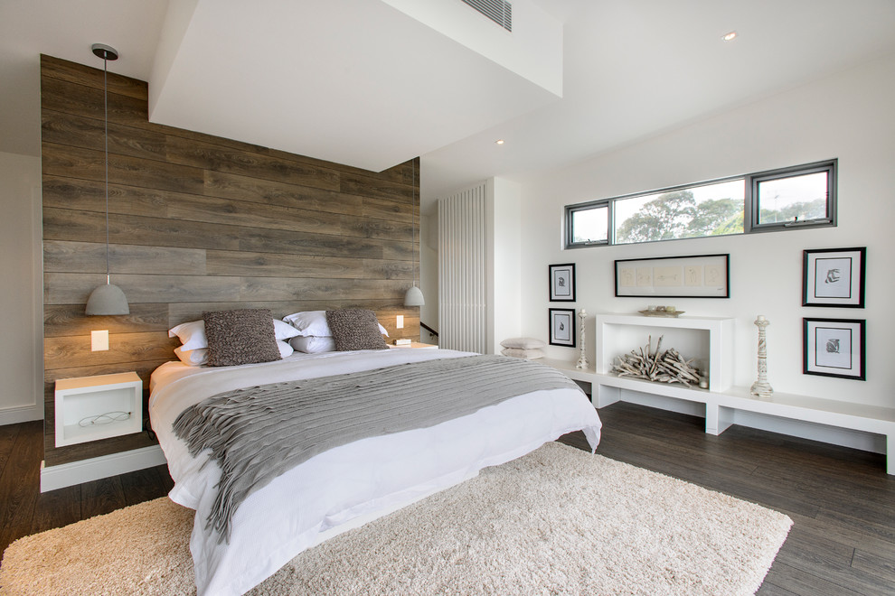 bed back bedroom wall wooden planks