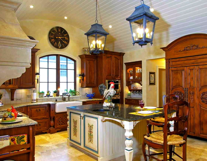 French country style kitchen pictures for French provincial kitchen designs