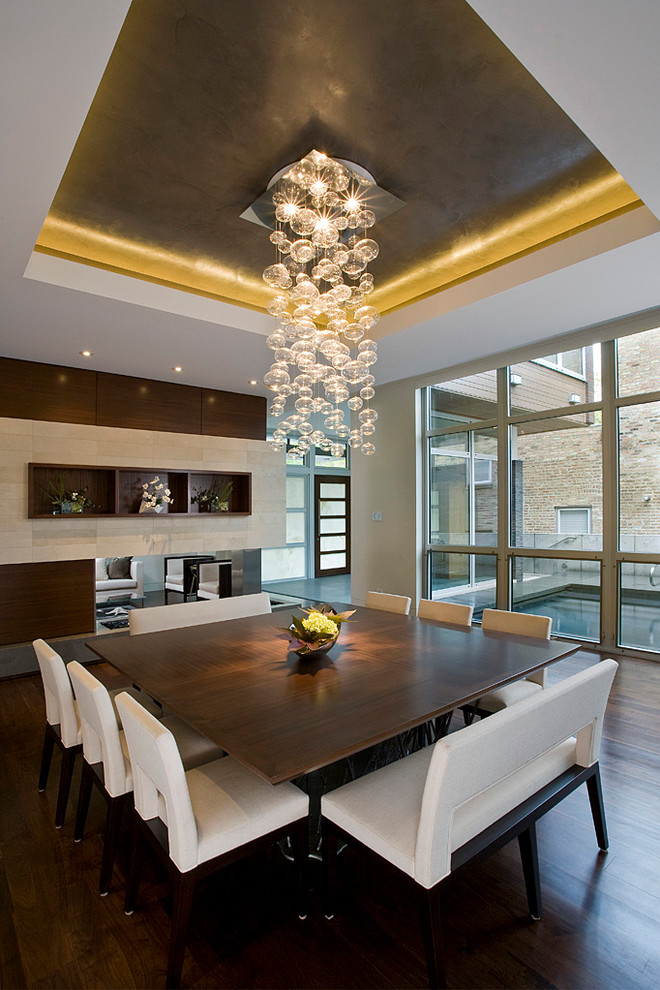10 dining table for 12 seater chairs ideas - Contemporary dining room chandeliers styles ...