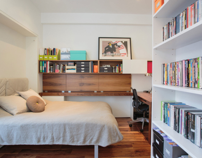 White-wooden-contemporary-home-office-with-an-office-bed-idea