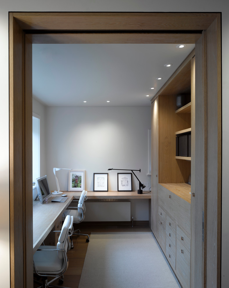 Contemporary Home Office With Custom Furniture Design