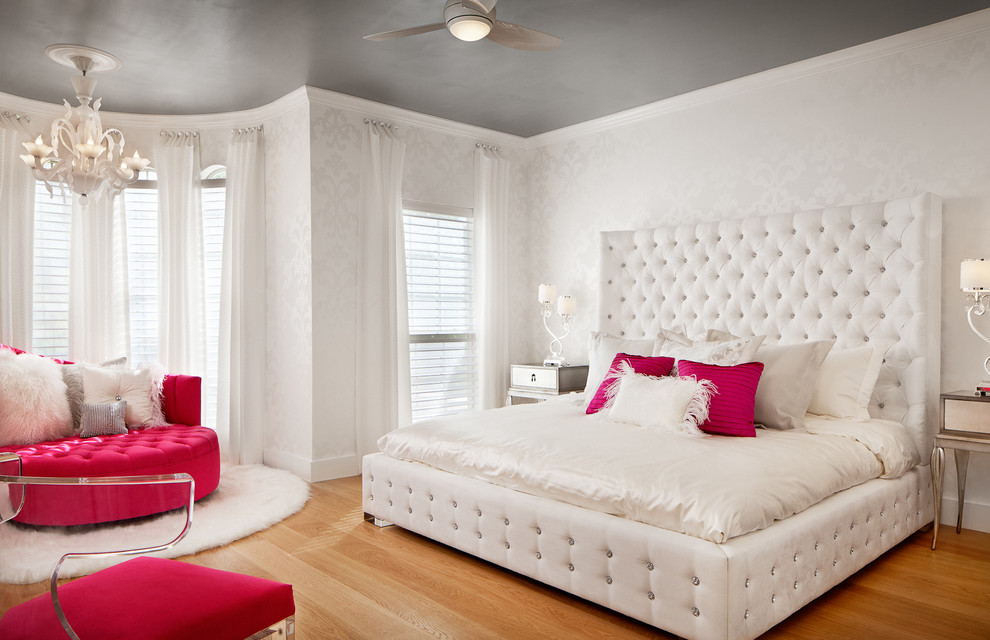 Teenage girl bedroom wall designs for Pink bedroom designs for teenage girls