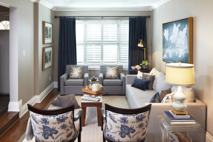 Contemporary-Living-Room-Idea-With-Blue-Curtains