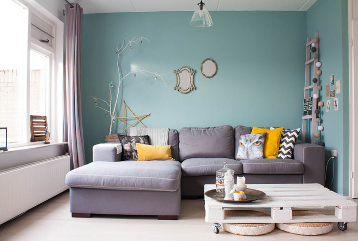 Eclectic-Living-Room mint from the shabby chic collection