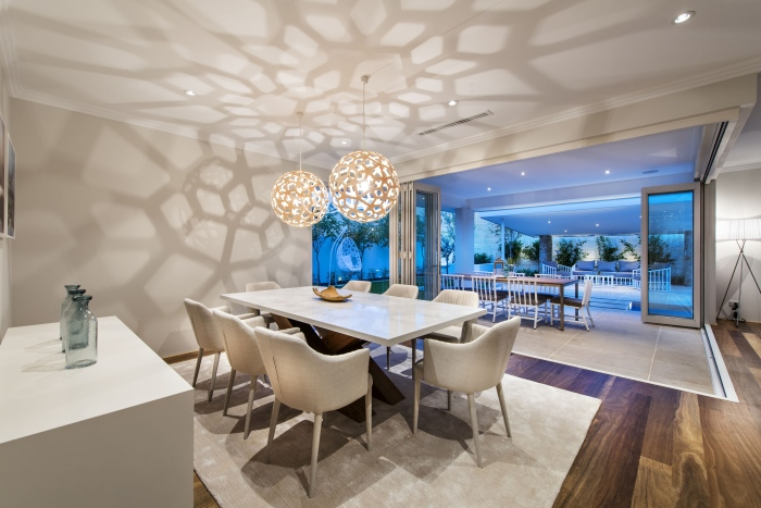 Layer-by-layer-dining-area-interior-Romano-crescent-Residence-with-cool-coastal-setting-in-Etesian-Australia