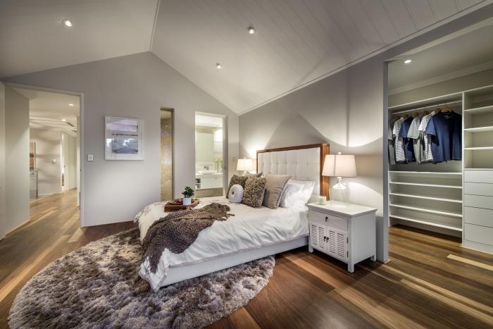 Modern-bedroom-interior-Romano-crescent-residence-with-cool-coastal-setting-in-Etesian,Australia