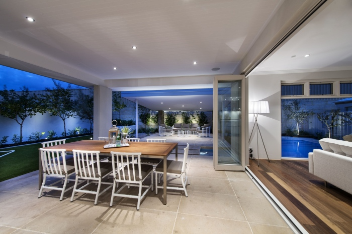 Contemporary-dining-area-interior-Romano-crescent-residence-with-cool-coastal-setting-in-Etesian-Australia