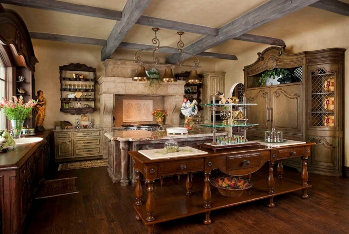 French country kitchen""