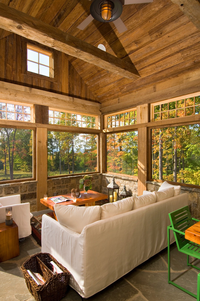 Summer-house-with-big-trees-of-the-autumn-season-seen-from-the-windows