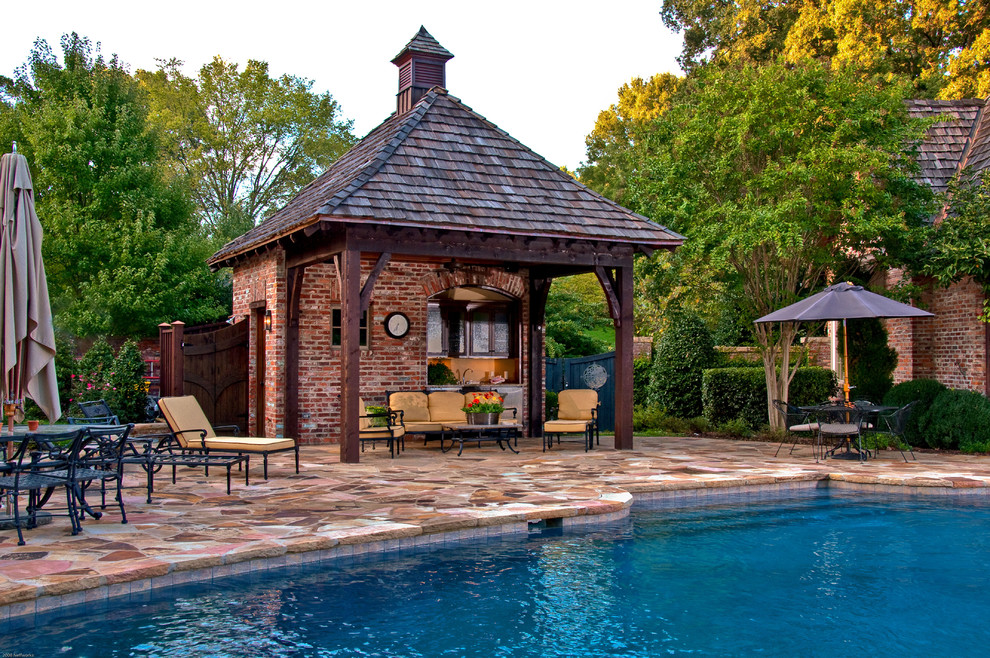 Pool side cabana designs ideas for Pool cabana plans
