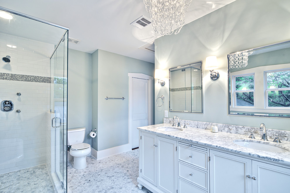 Blue and grey bathroom ideas for Bathroom designs blue