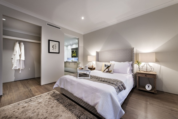 White-and-grey-sophisticated-bedroom-Avalon-classic-homestead-inspired-design