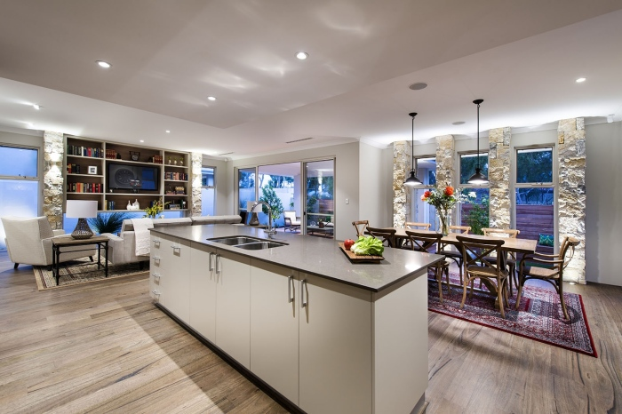Modern-Kitchen-Avalon-Classic-Homestead-Inspired-Design-With-An-Island-Dining-And-A-Drawing-Room