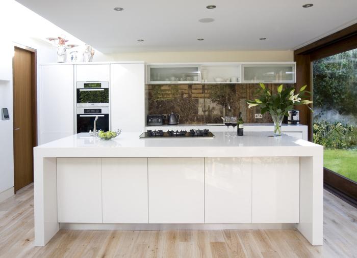 White Contemporary-Kitchen