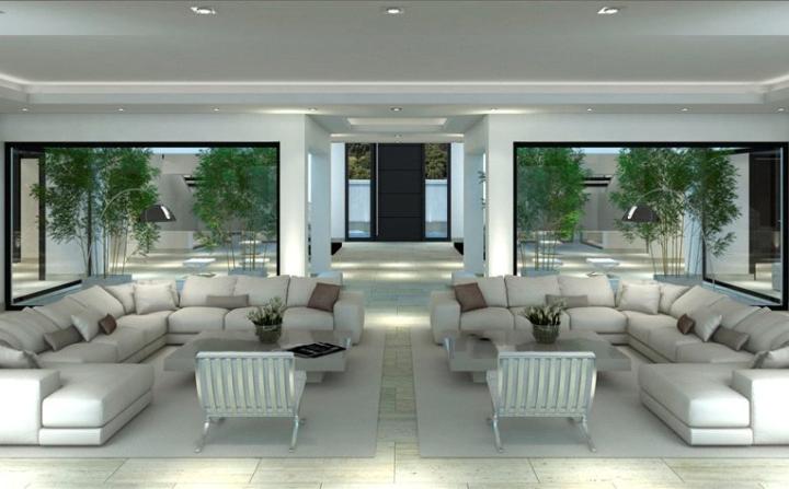 open modern  living room