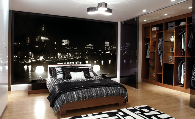 black and white bedroom colour