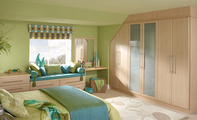 to your room a blend of blue and green is great a light green with