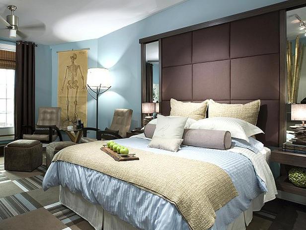chocolate bedroom colour