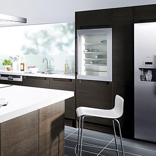 small wine cooler in modern kitchen kitchen