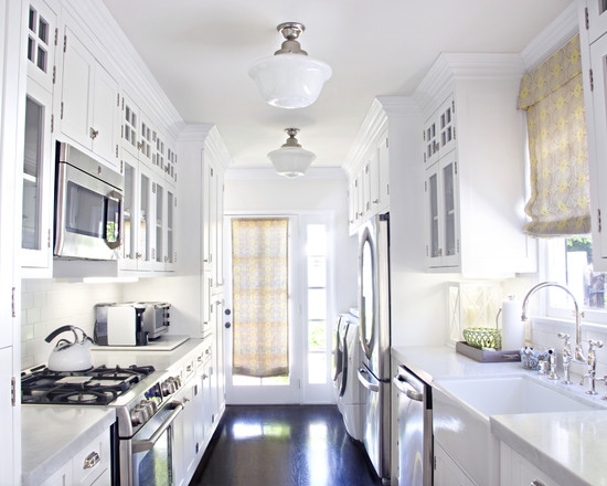 White-contemporary-kitchen-lighting-idea