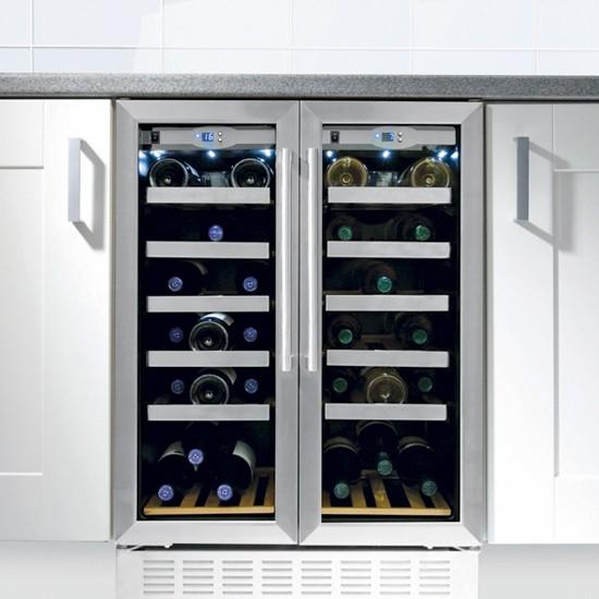 stylish double door wine cooler