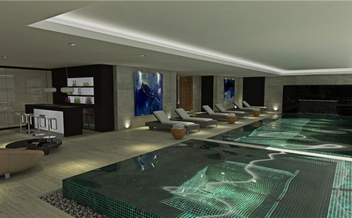 modern indoor swimming pool