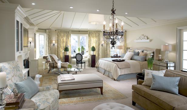 blue and white master bedroom design