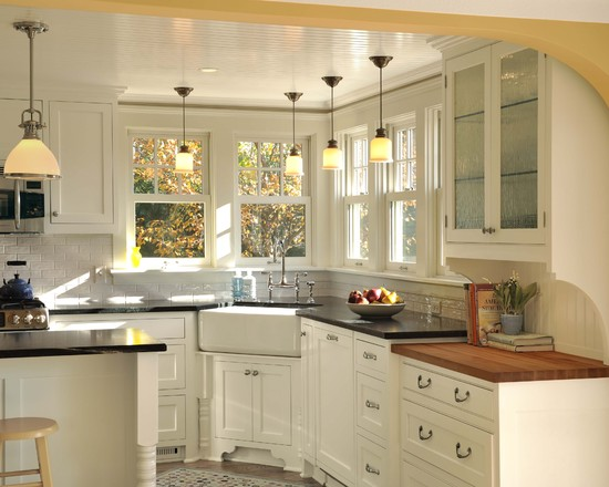 Cream-kitchen-with-a-sink-design-picture