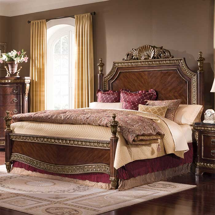 Vintage bed design with a vioctorian style