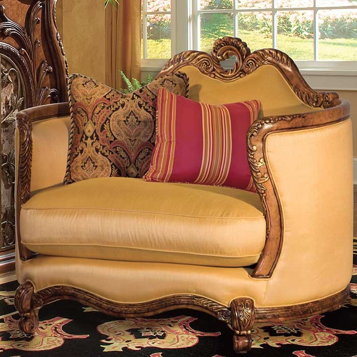 French Rococo style chair and a half
