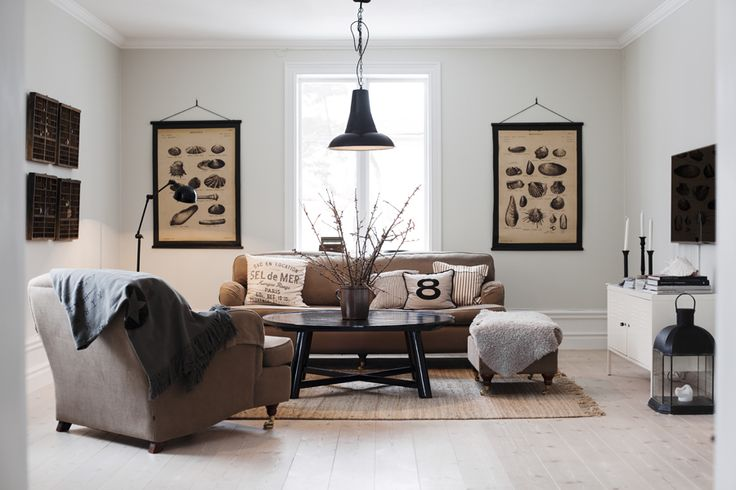brown and white in Living room