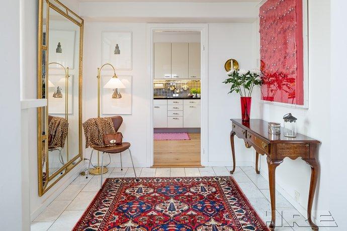 multi-coloured rug