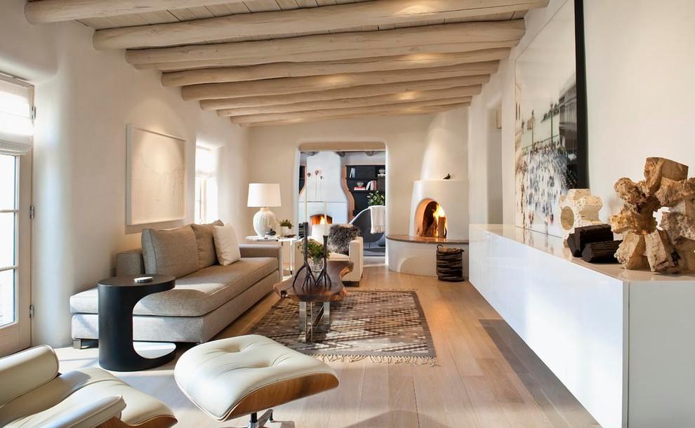 natural wooden floor living room