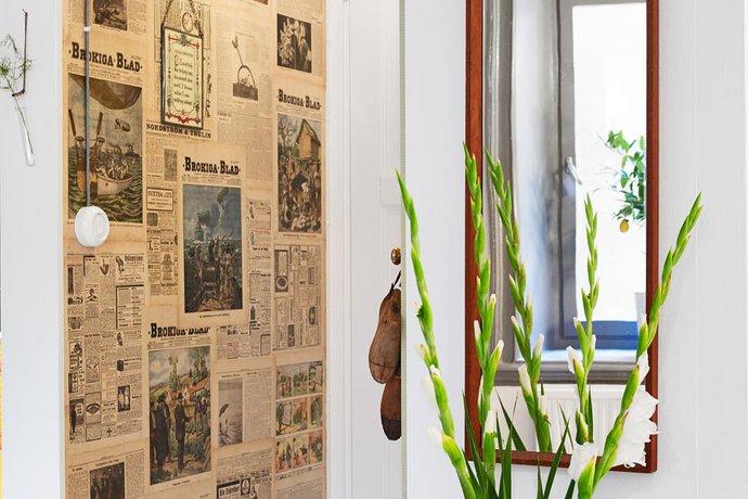 newspaper effect in hallway