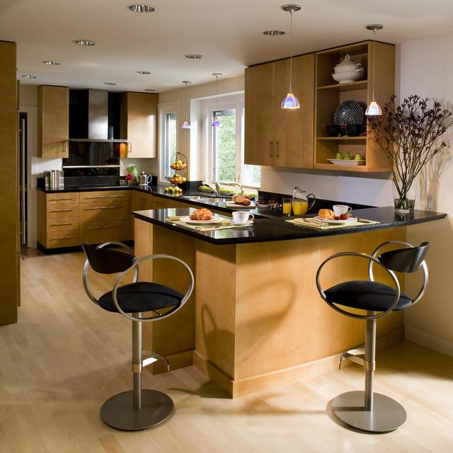 kitchen with wooden flooring ideas
