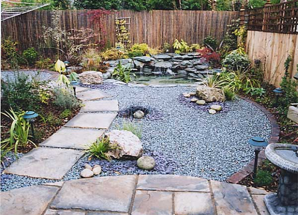 Designs for an amazing backyard garden for Low maintenance garden designs for small gardens