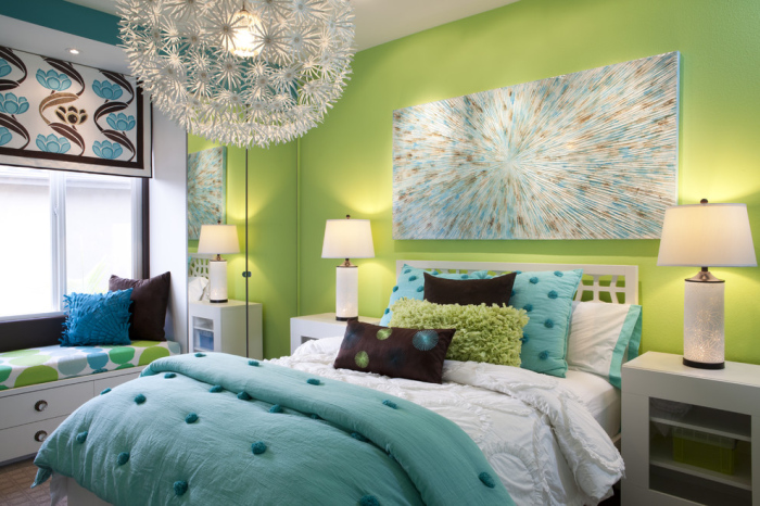 Adequate room lighting is another great idea in decorating a small bedroom