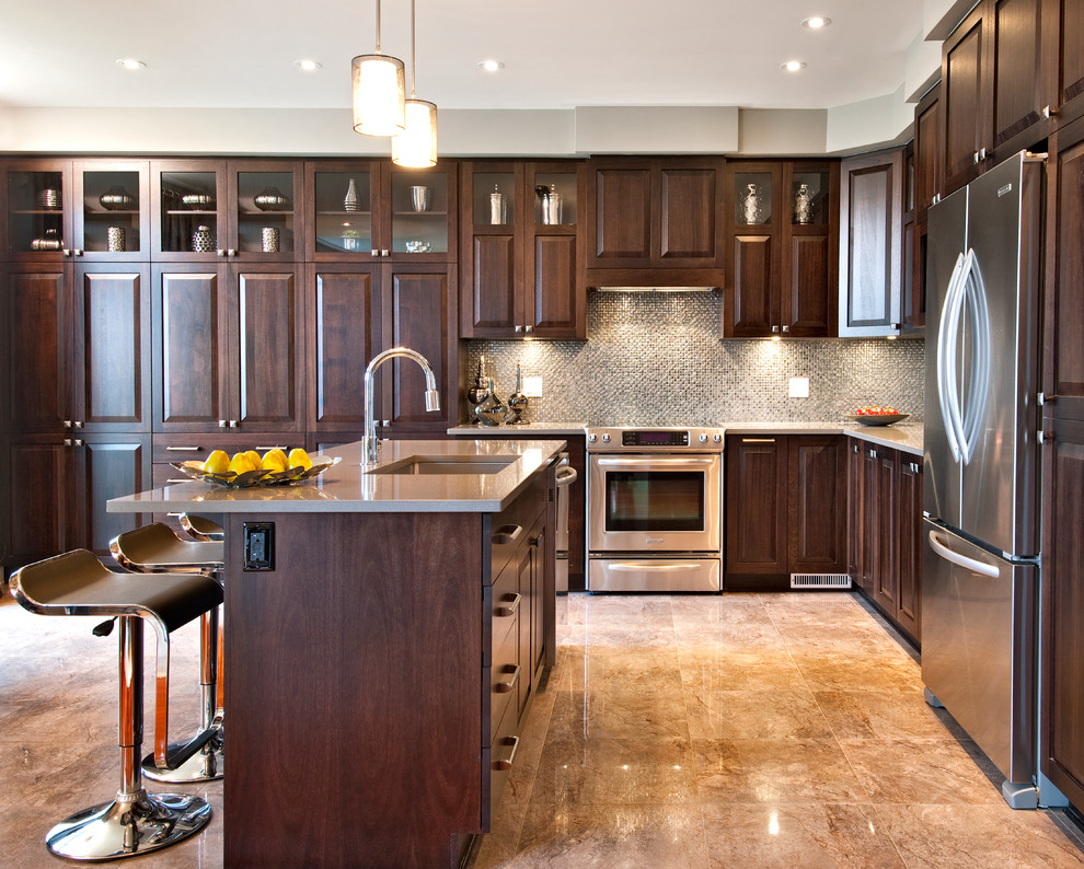 Black wood kitchen cabinets designs