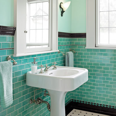 How to use subway tiles in your home for Old tile bathroom ideas