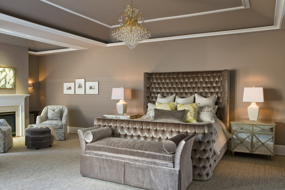 bedroom with tufted furniture