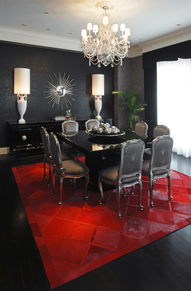 Italian lacquer dining room furniture for Carpet for dining room