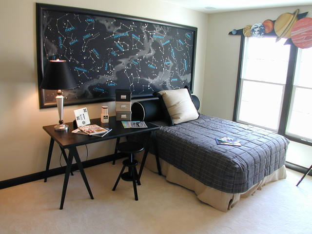 A hobby turns to a beautiful astronomy-inspired room design